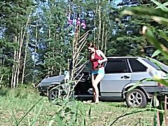 Russian, Amateure car outdoor