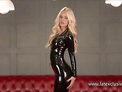 Blonde, Fetish, Babe, Fetish latex and boots fuck