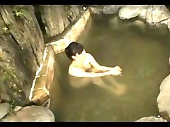 Japanese gf in hot springs