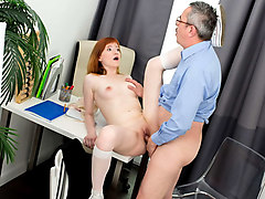 Busty teacher fucked by school president 001