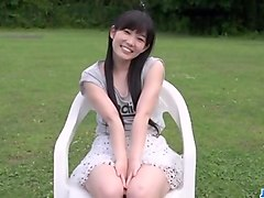 Japanese beauty uncensored outdoor