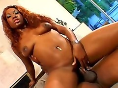 Facial, Ebony huge dick ride