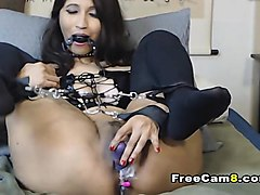 Asian, Bondage, Squirt, Chuby latina squirting solo