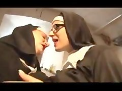 Nun, Threesome, Rough wife