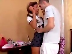 College, Cute, Cute teen virginity takes fuck her brother