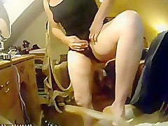 Clit, Hidden, Lady licks huge clits in daughter's room