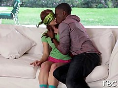 Black, Teen, Little white teen creampied by big black dick