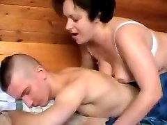 Russian, Real amateur russian mom and son