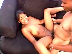 69, Ebony, Black, Mom and doughter gangbang