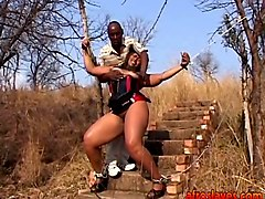 African, Chubby, Slave, Outdoor chubby couple dp
