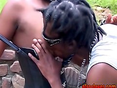 African, Bus, Slave, Femdom two slaves piss ass