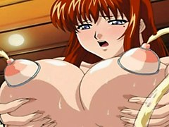 Anime, Lesbian, Swallow, First time swallowing cum
