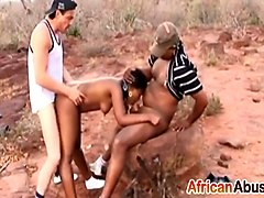 African, Nipples, Rough, Tied and tortured