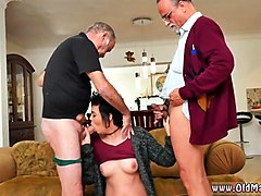 Anal, Old Man, Fat granny anal slave