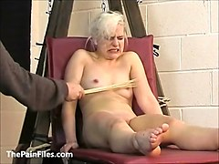 Blonde, Slave, Cute, Cute blonde milf takes it in her ass like a