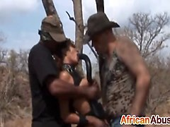 African, Bondage, Rough, Outdoor bondage punnishment