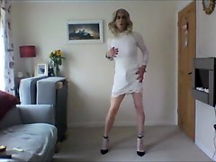 Crossdresser, Dress, Olivia in latex qlos
