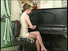 Russian, Bonded cock fucking a very tight rubber pussy