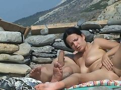 Couple, Beach, Beach massage