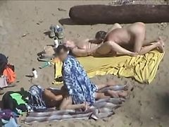 Couple, Beach, Nudest beach voyeur