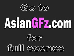 Asian, Rough, Girlfriend, Two tied hairy asians fucked rough