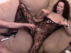 Sperm, Catsuit bound gagged vibrator