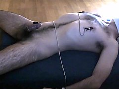 Nipples, Orgasm, Tied, Nipple clamping and pussy fucked
