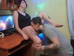 Tattoo, Asking girl to pee panty on webcam