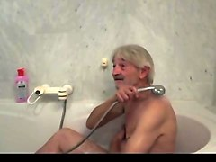 Grandpa, Maid, Shower, Japanese old porn