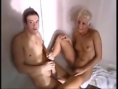Sauna, Threesome, Gay sauna porn film
