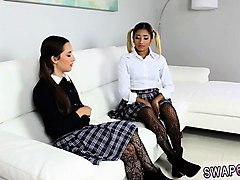Ebony, Blonde, Teen, Ebony black screaming orgasm