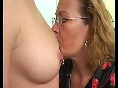 Lesbian, Dildo, Mature and young boy part 1
