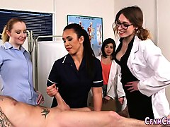Masturbation, Jerking, Cfnm, Ebony nurses
