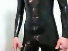 Rubber, Latex, Shemale bukkake