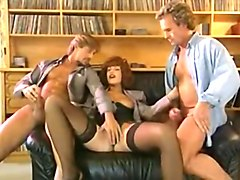 Anal, French, Milf, Marilyn dazzles in outrageous 80 s anal and dp