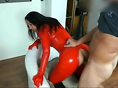 Latex, Facial, Catsuit milf