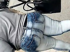 African, Jeans, Milf, Black girl fuck with panties on