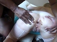 Anal, Oil, Old granny anal fuck