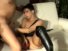 Mistress spitting and foot domination