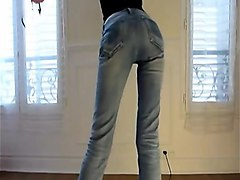 Amateur, Slave, Michelle b in leather pants