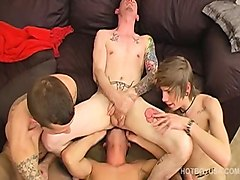 Orgy, Interracial, Big interracial gay