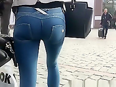 Jeans, Ass, Tight, Cum on tight jean