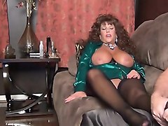 Stockings, Matures solo in stockings