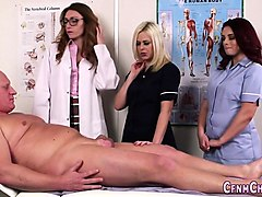 British, Nurse, Mother gives daughter massage