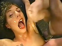 Amateur, Interracial wife gangbangs