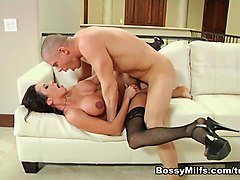 Milf, German dubbed anal blonde fun