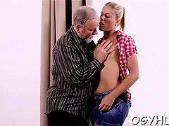 Old Man, Redhead wife fucked by old man