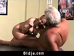 Grandpa, Teen, Japanese old man sex with milf