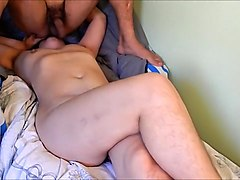 Ass, Lady watches young boy wanking as she strips
