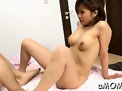 Milf, Cumming while playing with hard nipples